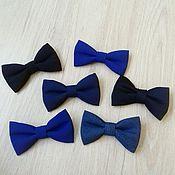 Аксессуары ручной работы. Ярмарка Мастеров - ручная работа Синий галстук - бабочка. Handmade.