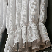 Блузка белая жатый хлопок