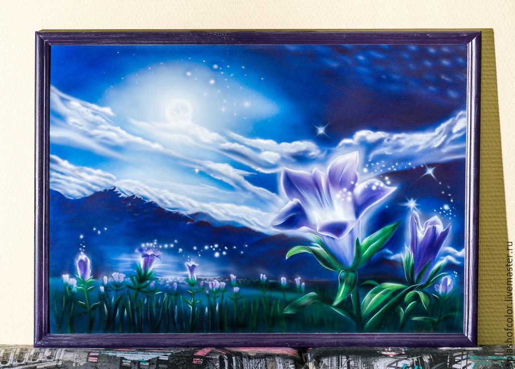 Картина сказочный пейзаж Цветочная поляна, , Москва, Фото №1