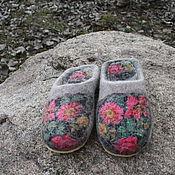 """Обувь ручной работы. Ярмарка Мастеров - ручная работа Валяные тапочки """"Теплота"""". Handmade."""
