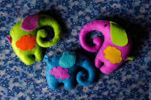 Куклы и игрушки ручной работы. Ярмарка Мастеров - ручная работа. Купить Слоники. Handmade. Фетр, игрушка на подарок, подарок, комбинированный