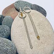 Украшения handmade. Livemaster - original item Asymmetrical earrings with chains. Handmade.