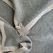 Работы для детей, handmade. Livemaster - original item Children`s plaid Merino grey melange with edge. Handmade.