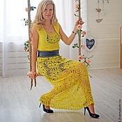 Одежда ручной работы. Ярмарка Мастеров - ручная работа Вязаное платье в пол. Handmade.