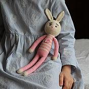 Мягкие игрушки ручной работы. Ярмарка Мастеров - ручная работа Зайка с сердцем. Handmade.