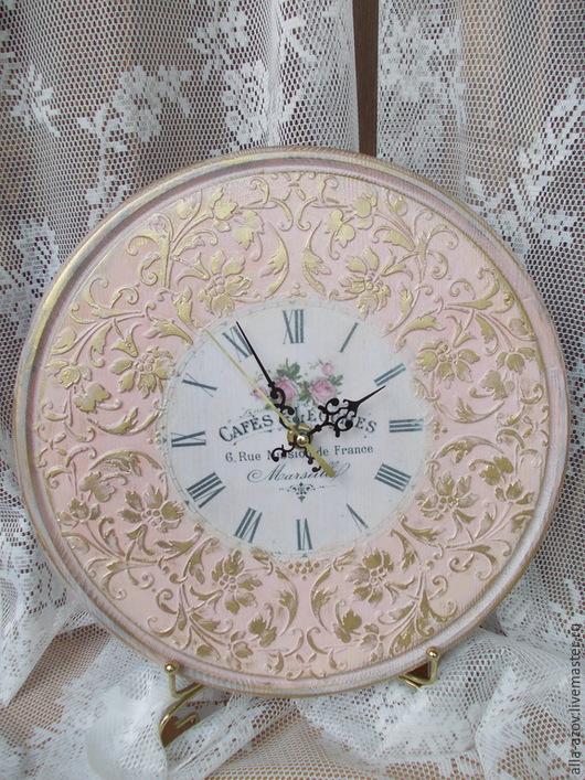 Часы для дома ручной работы. Ярмарка Мастеров - ручная работа. Купить Часы интерьерные. Handmade. Бледно-розовый, часы интерьерные