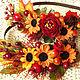 Диадемы, обручи ручной работы. Ярмарка Мастеров - ручная работа. Купить Ободок с цветами и ягодками.Осенний. Handmade. Осенний