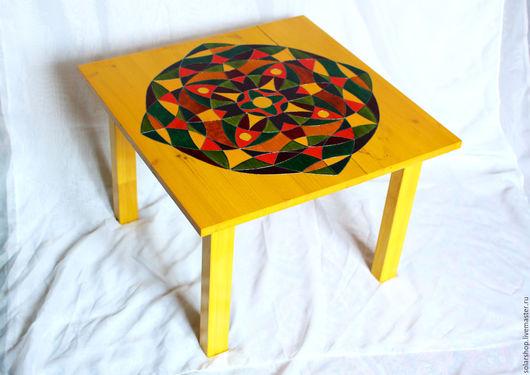 Мебель ручной работы. Ярмарка Мастеров - ручная работа. Купить Столик мандала! Ручная работа. Дерево 100%. Handmade. Комбинированный