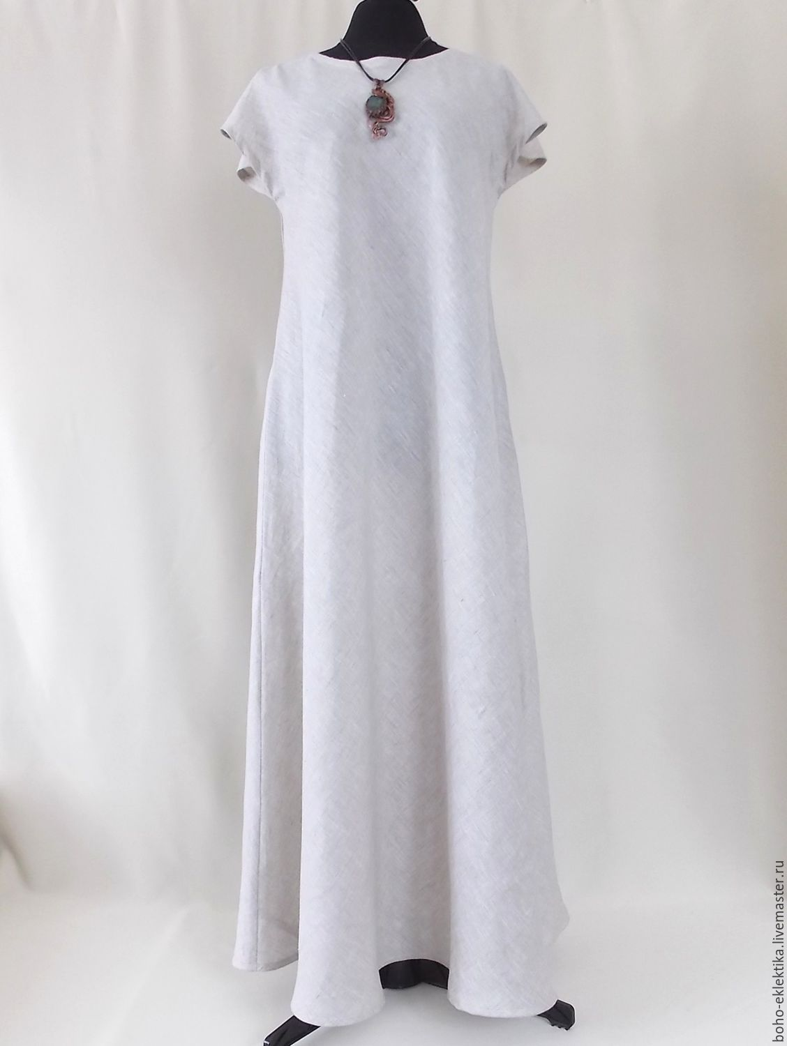 cba10cf39847b A simple linen dress long to the floor – shop online on Livemaster with  shipping - BONLBCOM | Tomsk