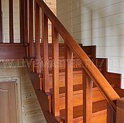 Для дома и интерьера ручной работы. Ярмарка Мастеров - ручная работа Деревянная лестница из лиственницы на 180. Handmade.
