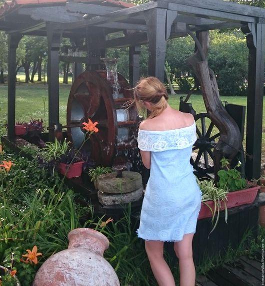 """Платья ручной работы. Ярмарка Мастеров - ручная работа. Купить летнее платье """"Blue silk"""", нуновойлок. Handmade. работа на заказ"""