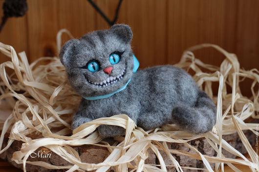 Сказочные персонажи ручной работы. Ярмарка Мастеров - ручная работа. Купить Чеширский кот лежачий. Handmade. Серый, кот из Алисы
