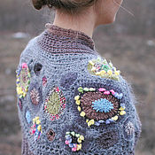 "Одежда ручной работы. Ярмарка Мастеров - ручная работа ""Mirabile"" тёплая накидка на плечи. Handmade."