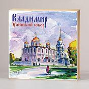 Сувениры и подарки handmade. Livemaster - original item Souvenir magnets Vladimir. Handmade.