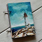 "Канцелярские товары handmade. Livemaster - original item Notepad A6 ""White lighthouse"". Handmade."
