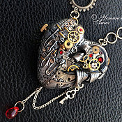 Субкультуры ручной работы. Ярмарка Мастеров - ручная работа Стимпанк сердце,кулон,колье, сердце  в стиле стимпанк/ Steampunk. Handmade.