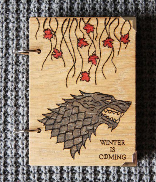 """Блокноты ручной работы. Ярмарка Мастеров - ручная работа. Купить Блокнот """"Лютоволк Старков"""". Handmade. Комбинированный, подарок, волк"""