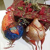 Куклы и игрушки ручной работы. Ярмарка Мастеров - ручная работа Новогодняя  игрушка курочка. Handmade.