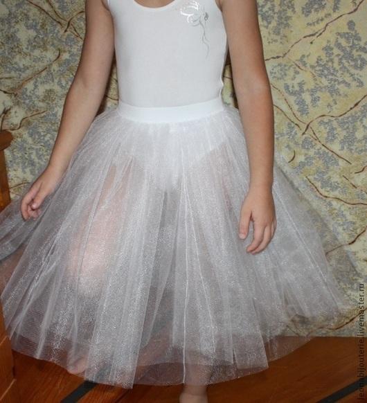 Танцевальные костюмы ручной работы. Ярмарка Мастеров - ручная работа. Купить Шопенка классическая детская 3-слойная белая. Handmade.