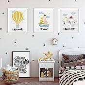 Картины и панно handmade. Livemaster - original item Set of 3 posters-motivators. Handmade.
