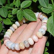 Украшения handmade. Livemaster - original item Natural Peruvian pink opal bracelet. Handmade.
