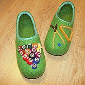Обувь ручной работы. Ярмарка Мастеров - ручная работа Тапочки Бильярд. Handmade.