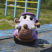 Куклы и игрушки ручной работы. Ярмарка Мастеров - ручная работа Эко-игрушка вязаный автомобиль Винни. Handmade.