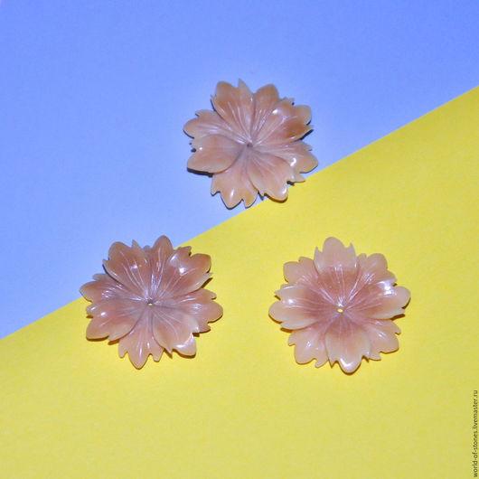 Для украшений ручной работы. Ярмарка Мастеров - ручная работа. Купить Агат цветок 73. Handmade. Бежевый, агат