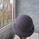 """Шляпы ручной работы. шляпка """"Аида"""". ZIMa    (Ирина)          FeltHouse. Ярмарка Мастеров. Валяная шляпа, шляпы из войлока"""