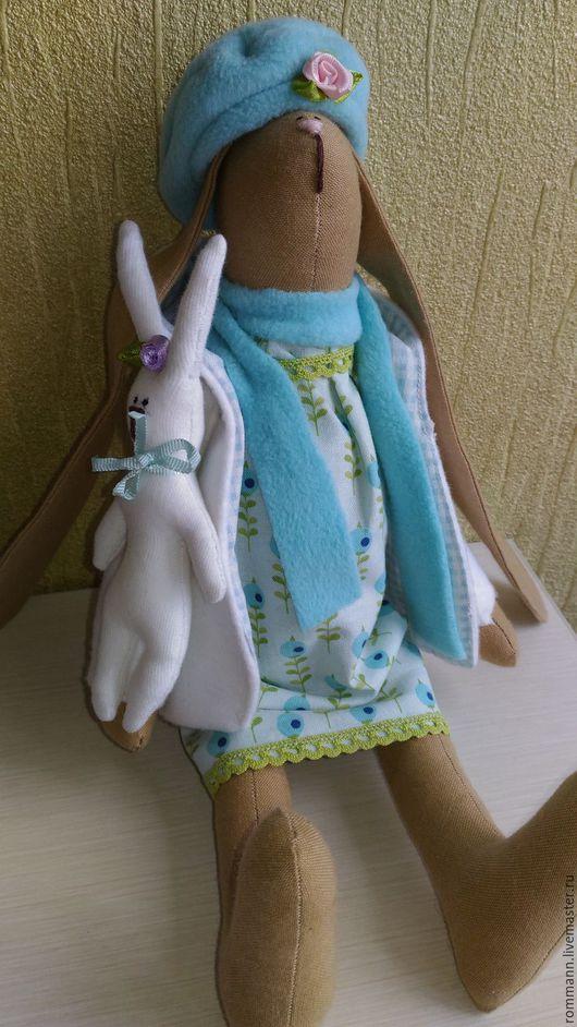 Куклы Тильды ручной работы. Ярмарка Мастеров - ручная работа. Купить Зайчиха Маняша с малышом. Handmade. Тильда, заяц тильда