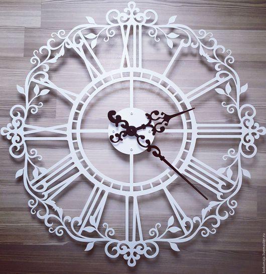 Часы для дома ручной работы. Ярмарка Мастеров - ручная работа. Купить Часы 80см Aaris с увеличенными стрелками. Handmade. Белый