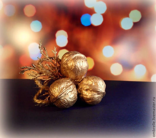 """Новый год 2017 ручной работы. Ярмарка Мастеров - ручная работа. Купить Сувенир """"Три орешка для Золушки"""". Handmade. Новый Год"""