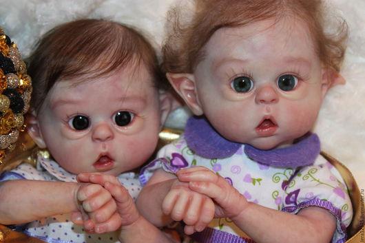 Куклы-младенцы и reborn ручной работы. Ярмарка Мастеров - ручная работа. Купить Сказочные Эльфики))). Handmade. Бежевый, Молд