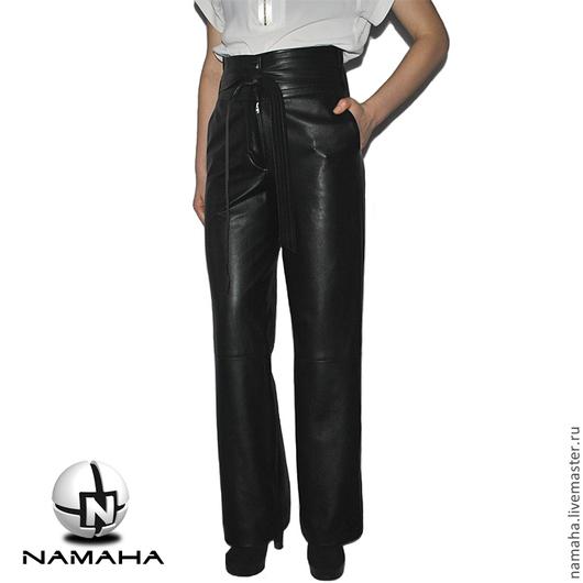 Брюки, шорты ручной работы. Ярмарка Мастеров - ручная работа. Купить Брюки кожаные чёрные женские. Handmade. #Namaha3Ddesign