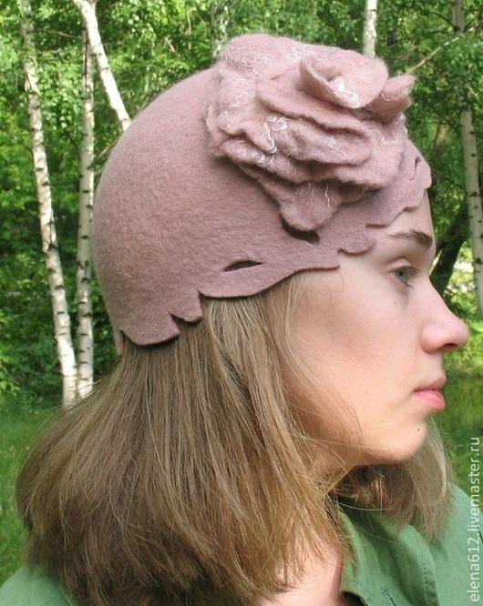 """Шляпы ручной работы. Ярмарка Мастеров - ручная работа. Купить Шляпка """"Роза"""". Handmade. Черный, шляпка женская, подарок женщине"""