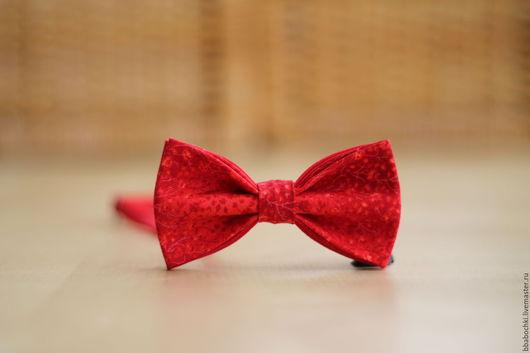 Галстуки, бабочки ручной работы. Ярмарка Мастеров - ручная работа. Купить Бабочка красная с орнаментом детская/взрослая. Handmade. Ярко-красный