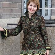 Одежда ручной работы. Ярмарка Мастеров - ручная работа Жакет валяный Мердуа, коричнево-зеленый. Handmade.