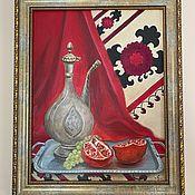 Картины и панно handmade. Livemaster - original item Oriental tale. Still life with jug and pomegranate. Oil painting.. Handmade.
