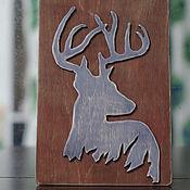 """Картины и панно ручной работы. Ярмарка Мастеров - ручная работа панно """"олень в траве"""". Handmade."""