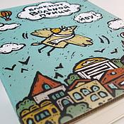 Канцелярские товары handmade. Livemaster - original item The notebook free birds. Handmade.