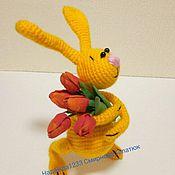 """Куклы и игрушки ручной работы. Ярмарка Мастеров - ручная работа МК """"Пасхальные или поздравительные зайки"""". Handmade."""