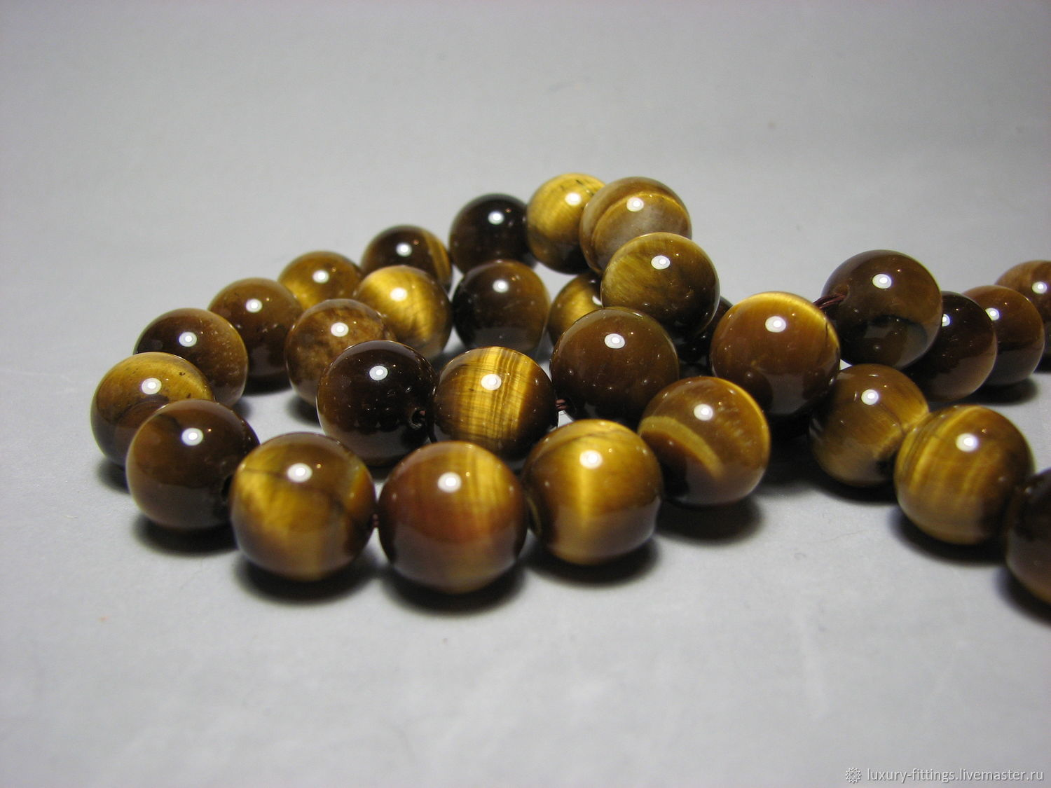 Tiger eye bead, 14mm, Beads1, Moscow,  Фото №1