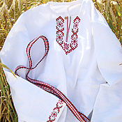 Одежда handmade. Livemaster - original item Slavic men`s shirt