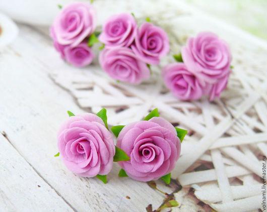 """Серьги ручной работы. Ярмарка Мастеров - ручная работа. Купить Серьги """"Розы"""". Handmade. Розы, романтика, серьги, подарок девушке"""