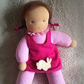 Вальдорфские куклы и звери ручной работы. Ярмарка Мастеров - ручная работа Вальдорфская кукла в пришивной одежке 26-28см. Handmade.