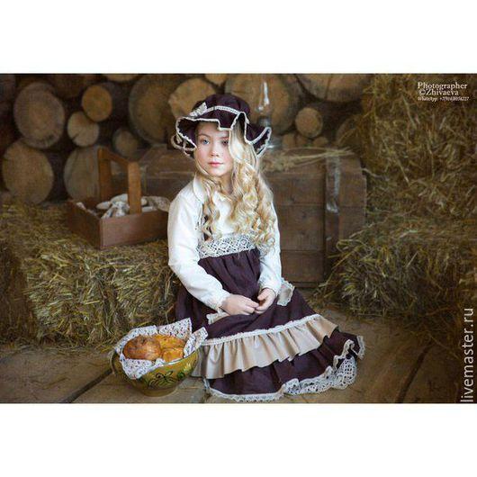 Одежда для девочек, ручной работы. Ярмарка Мастеров - ручная работа. Купить Бохо комплект: Сарафан для девочки, рубашка, шляпа. Handmade.