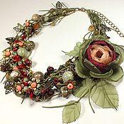 Украшения handmade. Livemaster - original item Fairy Red Berries. Necklace, brooch flower.. Handmade.