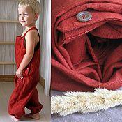 Работы для детей, handmade. Livemaster - original item Linen overalls for the boy. Handmade.