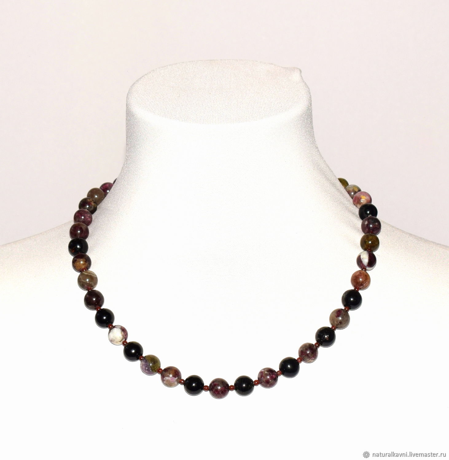 Beads made from natural tourmaline, Beads2, Moscow,  Фото №1