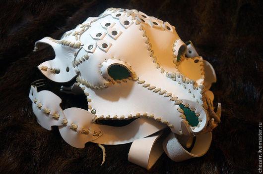 """Женские сумки ручной работы. Ярмарка Мастеров - ручная работа. Купить Кожаная сумка """"Ледяной Дракон"""". Handmade. Белый, кожа"""